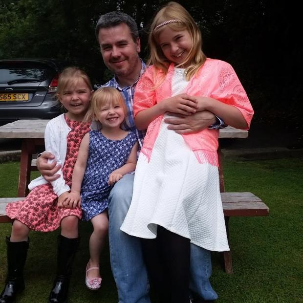 Watford Observer: Lloyd with his three daughters