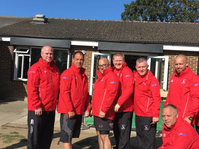 Coaches at Watford Rugby Club wearing the new kit (Credit Watford Rugby Club)