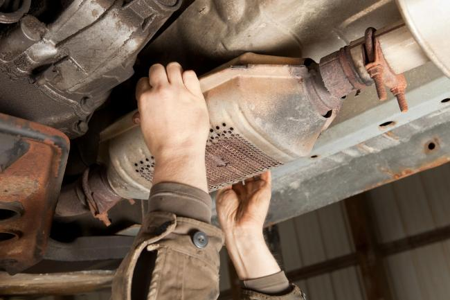 Police are offering free security marking kits for catalytic converters
