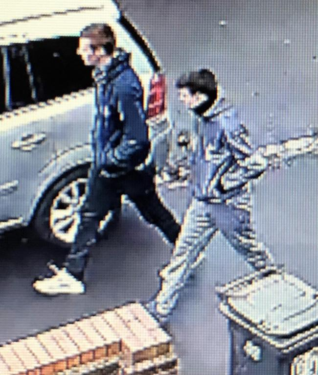 The two men police would like to indentify as part of the enquires (Herts Police)