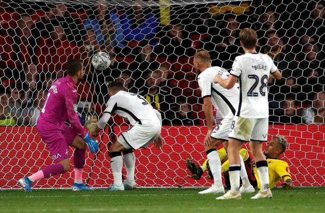 Roberto Pereyra scores late on as Watford beat Swansea. Picture: Action Images