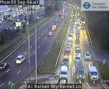 Traffic on A1 Barnet Way - A411 Barnet Lane - Barnet Road is also affected