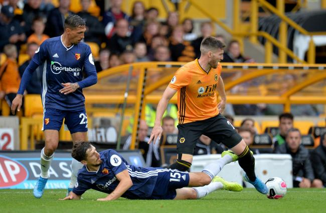 Craig Cathcart at Molineux. Picture: Action Images