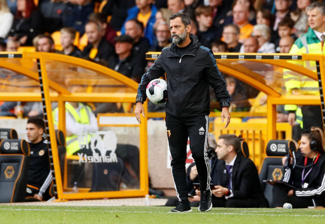 Quique Sanchez Flores during Watford's defeat at Wolves. Picture: Action Images