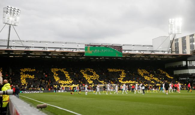 Watford Fans' display ahead of the game against Sheffield United. Picture: Action Images