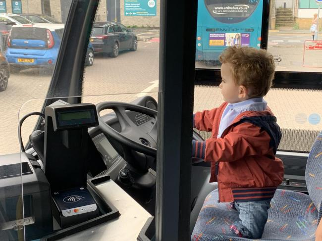 Oscar Connor (pictured) in an Arriva bus (photo credit Arriva)