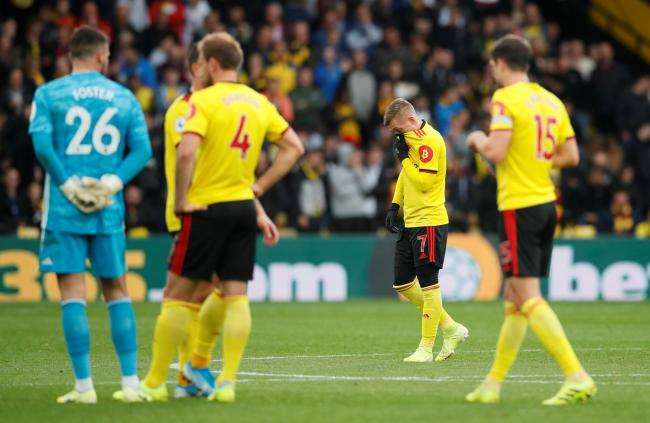 Watford players after their game against Sheffield United. Picture: Action Images