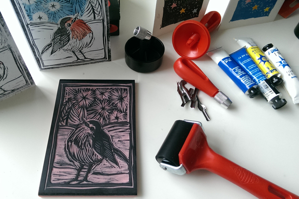 Linocut Classes: Christmas Cards at Queens Park Arts Centre