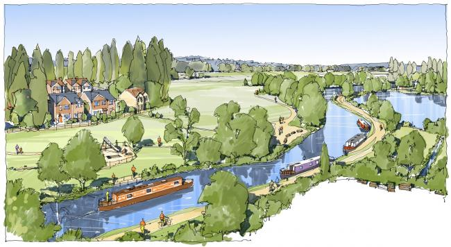 Artist impression of proposed 70 home-scheme. Photo: Angle Property