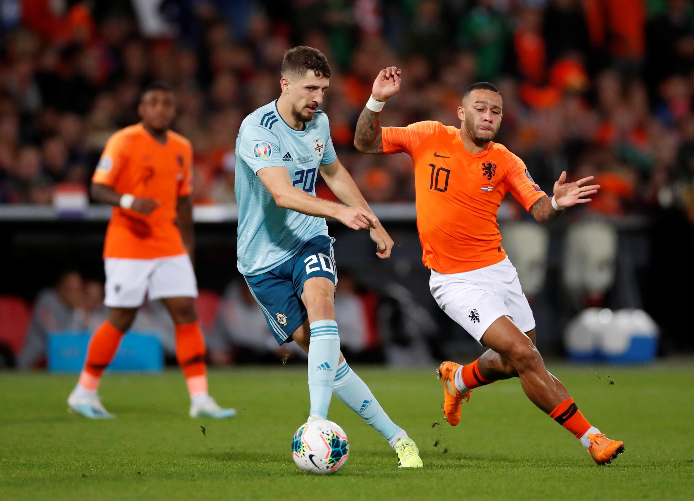 Watford's Craig Cathcart wins 46th cap as Northern Ireland suffer late Netherlands defeat