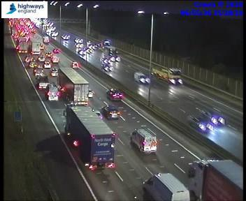 Traffic being held on the M1 southbound (Photo Highways England)