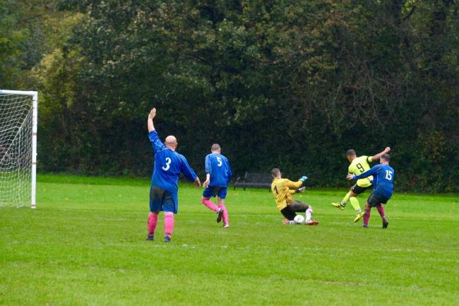 Dome Bar in action against Oxhey Spartans. Picture: Len Kerswill