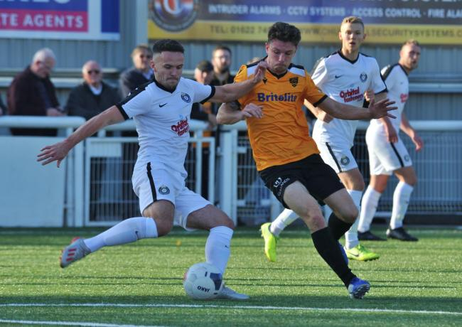 Kings Langley were knocked out of the FA Cup by Maidstone United. Picture: Steve Terrell