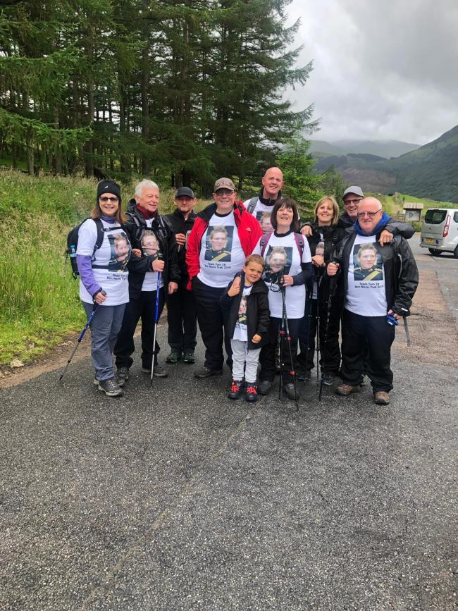 The Sawyer family before climbing up Ben Nevis (photo credit Sawyer family)