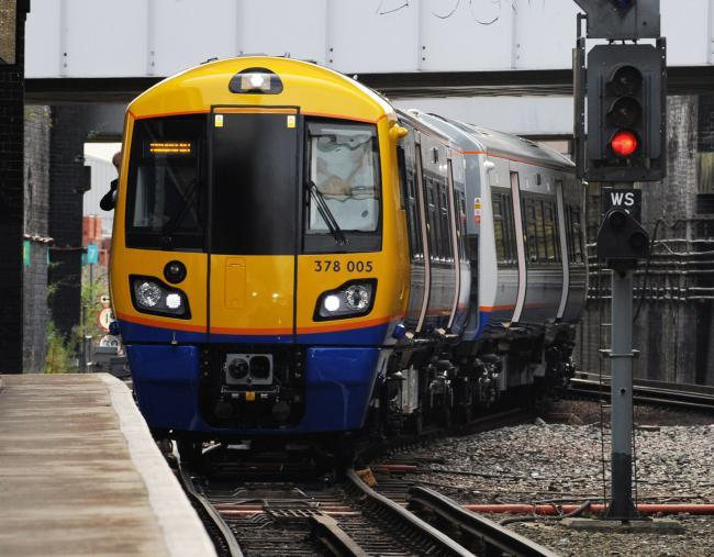 A London Overground train (PA)