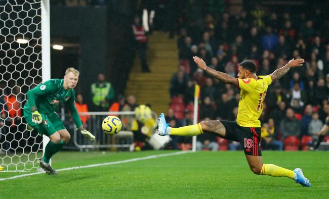 Andre Gray was close to snatching a late win. Picture: Action Images