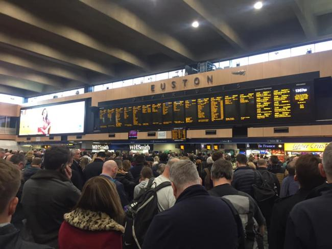 The concourse at Euston this afternoon. Credit: Toni Milford