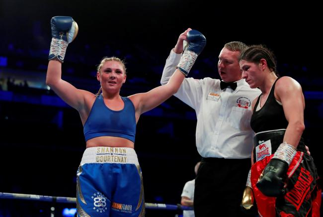 Shannon Courtenay after beating Jasmina Nad. Picture: Action Images