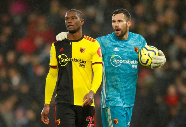 Christian Kabasele and Ben Foster. Picture: Action Images