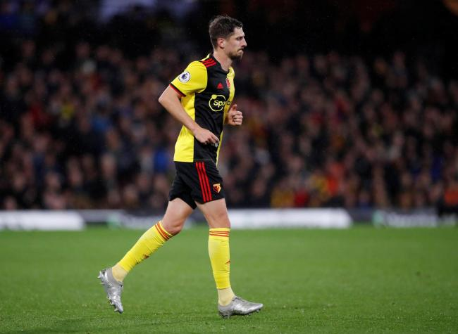 Craig Cathcart's involvement against Chelsea lasted just 20 minutes. Picture: Action Images
