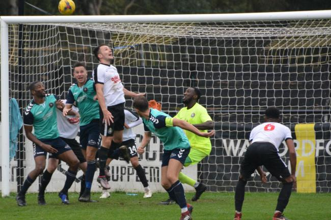 Two goals in the final 15 minutes saw Kings Langley come out on top on their travels. Picture: Chris Riddell