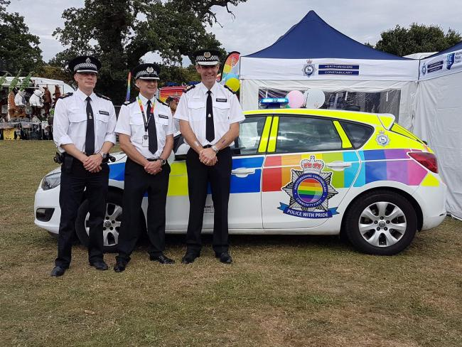 Police officers at Herts Pride in August. Credit: Herts Police