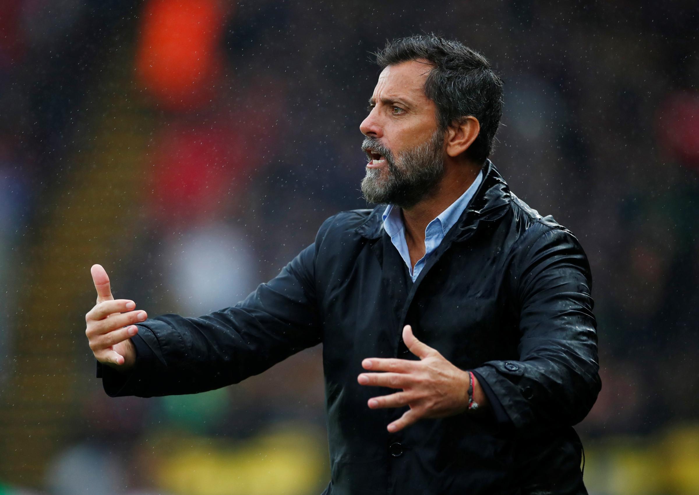 Quique Sanchez Flores explains defensive tactics to Watford fans