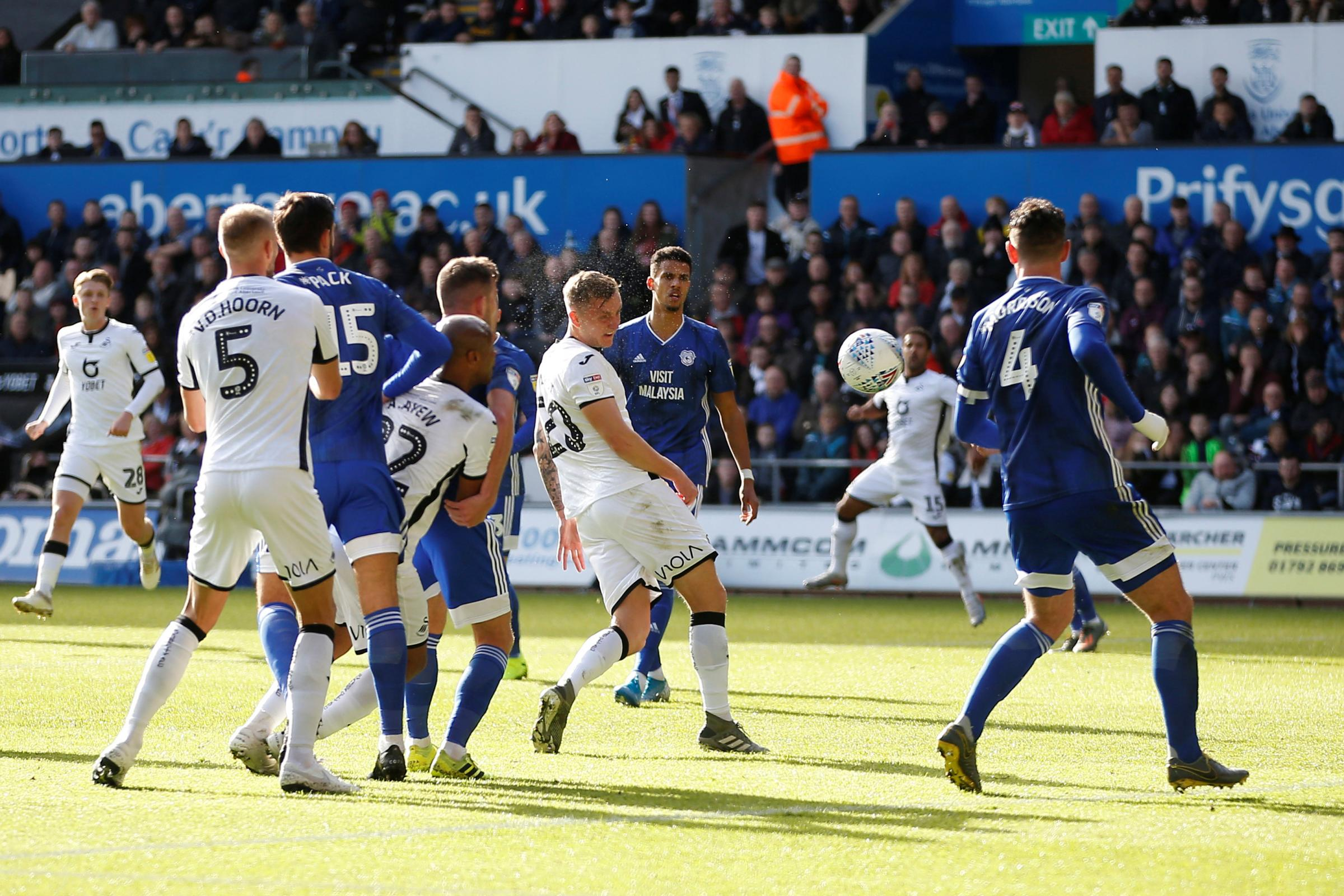 Out-on-loan Watford defender Ben Wilmot scores Swansea City goal of the month