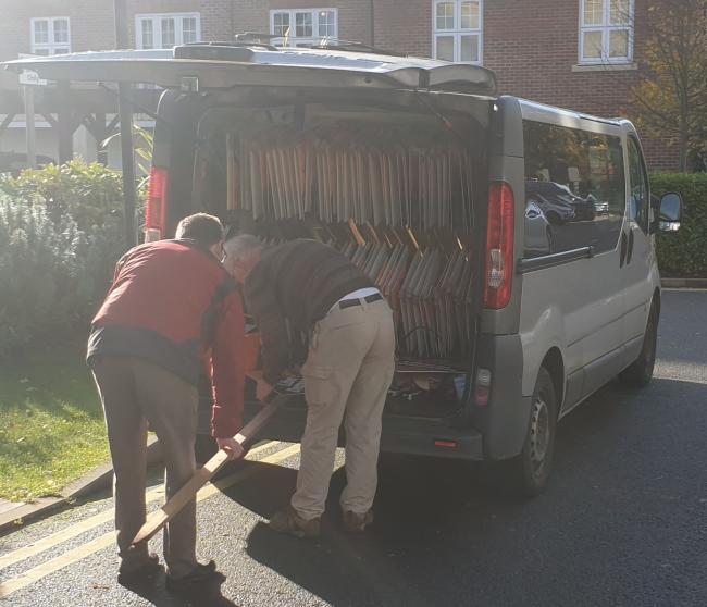 The van being used in Watford (photo credit William Berry)