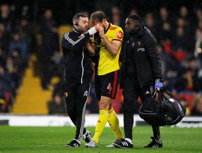 Craig Dawson was substituted due to a head injury. Picture: Action Images