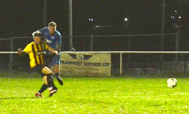 Reece Cameron scored Oxhey Jets' winner on Tuesday night. Picture: Len Kerswill