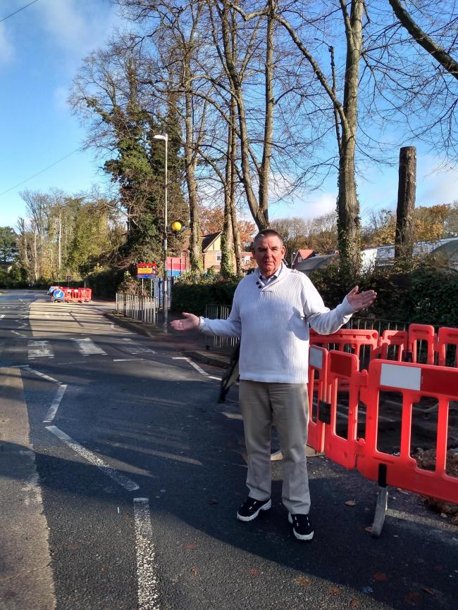 Cllr Mark Watkin could not understand why the whole of Nascot Wood Road needed to be closed