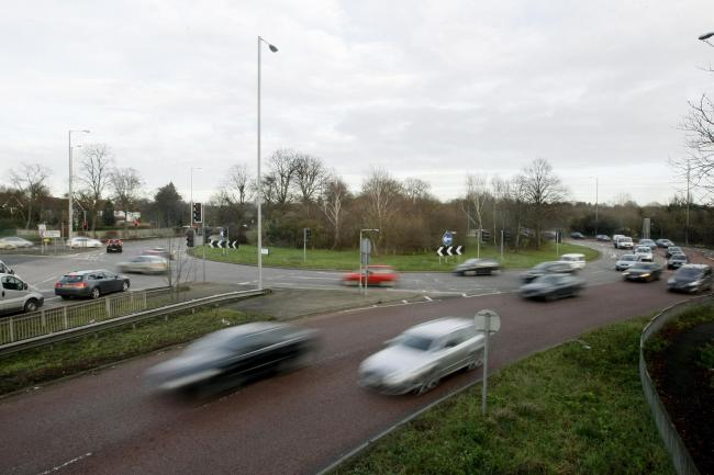 London Colney roundabout - which the A414 runs through