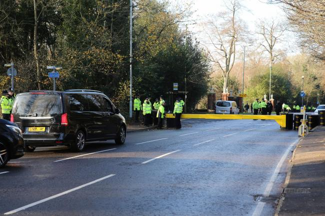 Police were stationed across Watford to ensure that NATO operations were a success. (Photo: Holly Cant)