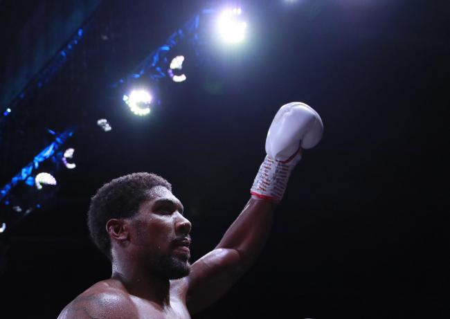 Anthony Joshua salutes the crowd. Picture: Action Images