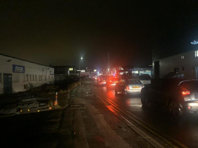 People leaving Watford Business Park and Croxley Park were stuck in a standstill (Photo: Nathan Louis)