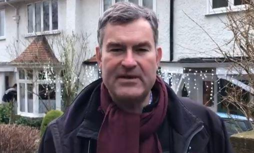 David Gauke speaks to the camera on Twitter