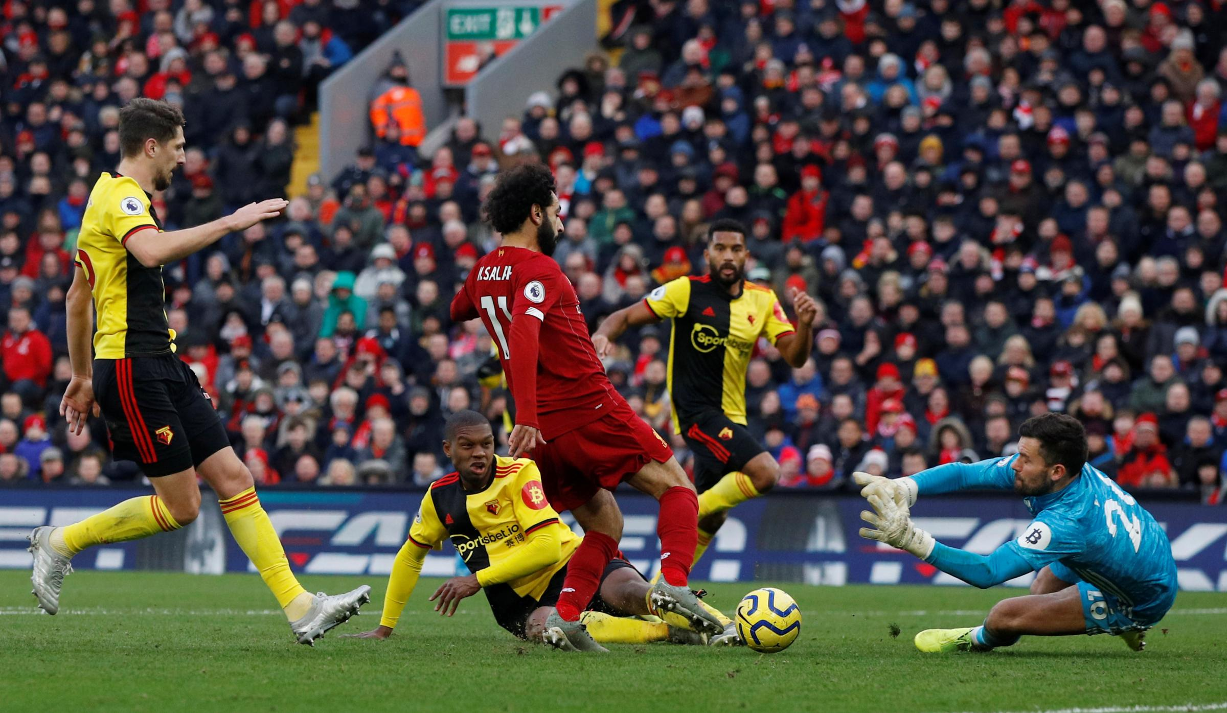 League leaders Liverpool beat Watford at Anfield