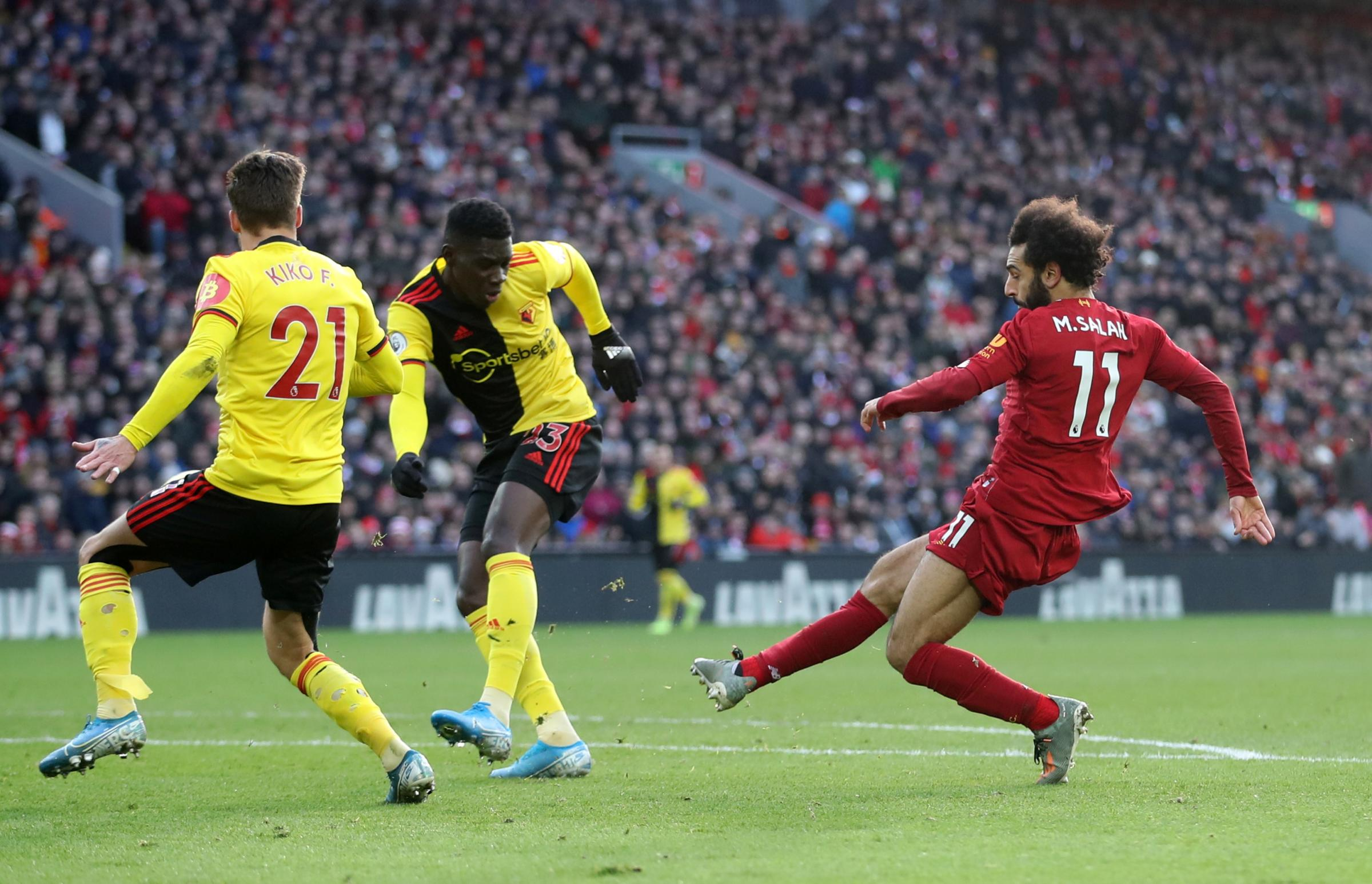 Watford beaten by Liverpool despite improvement in Nigel Pearson's first game