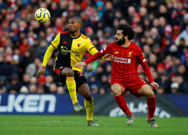 Christian Kabasele marked Mo Salah well during the match. Picture: Action Images