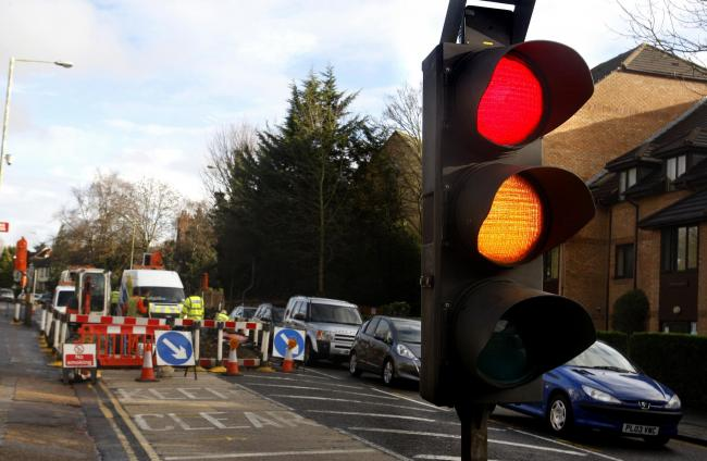 An image of gas repairs previously undertaken in this area of Rickmansworth Road