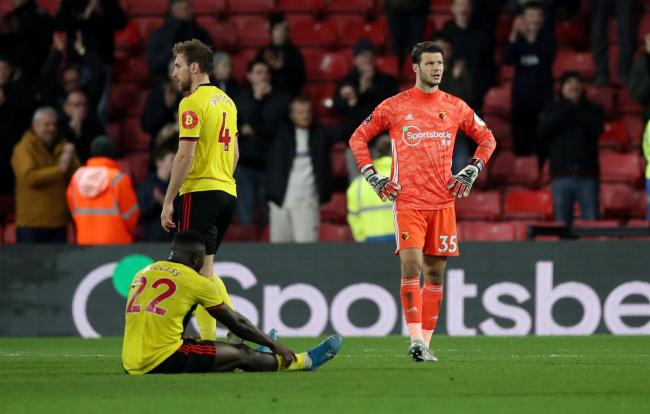 Watford players after losing a three goal lead to draw with Tranmere. Picture: Action Images