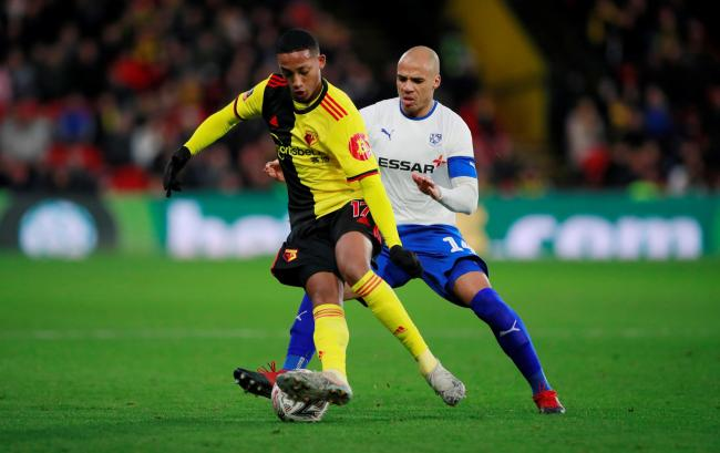 Joao Pedro during Watford's FA Cup game with Tranmere Rovers. Picture: Action Images