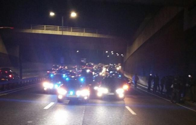 A police chase came to an end on the A406 in north London. Photo: Essex Road Policing Unit South