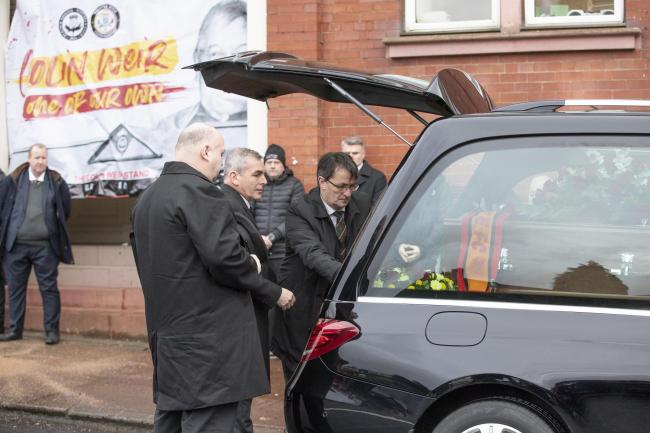 Colin Weir's hearse