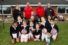 Pupils from Field Junior School with coaches from Saracens and Watford Rugby Club.
