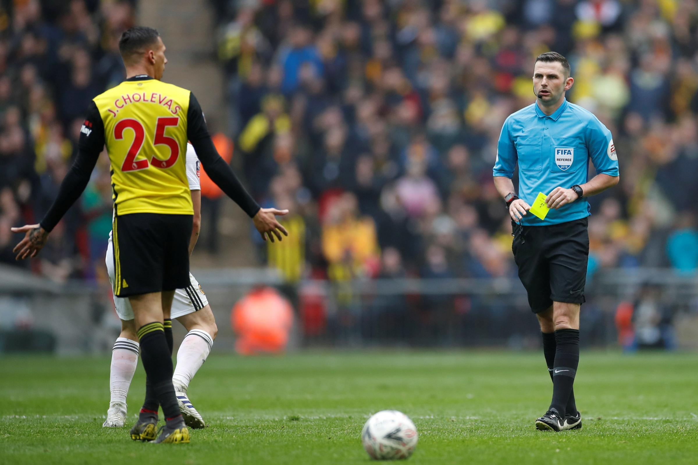 Michael Oliver and Martin Atkinson to referee Watford games with Tottenham Hotspur and Aston Villa