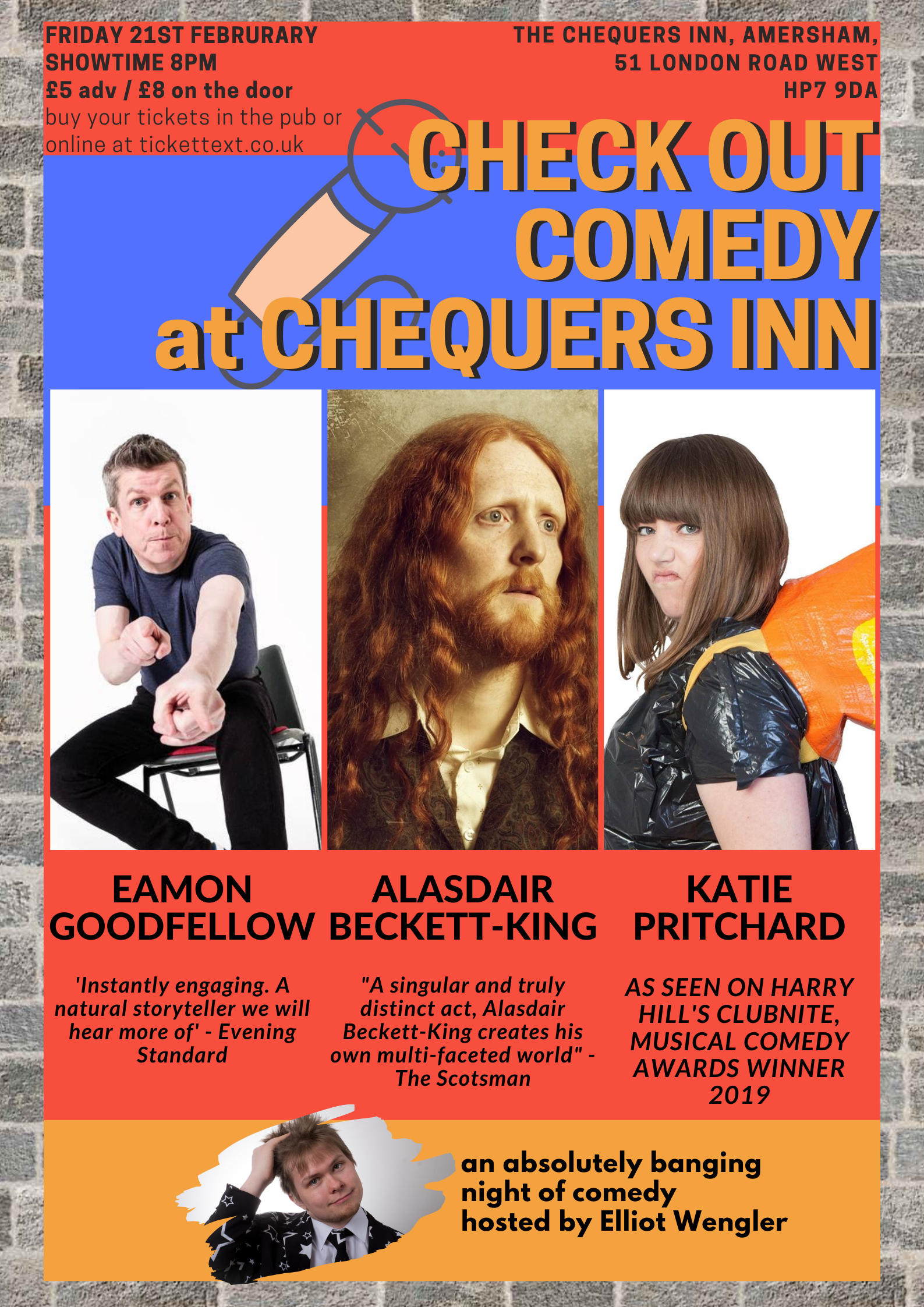 Chequers Inn Comedy Night - February