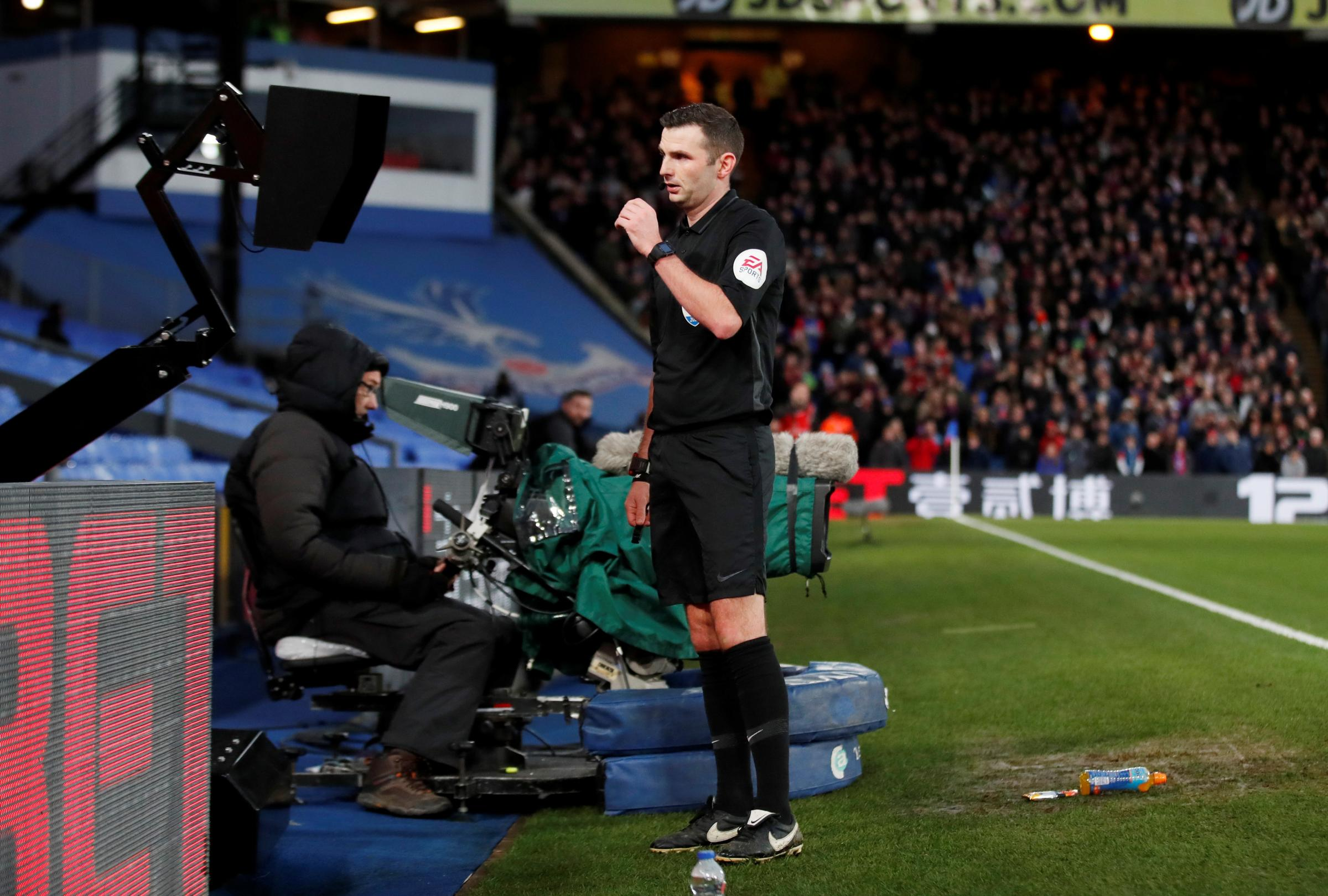 Premier League referees advised to use pitchside monitors for red card decisions
