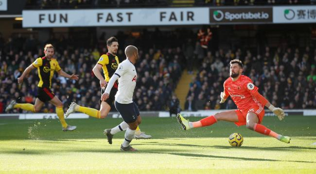 Ben Foster denies Lucas Moura in Saturday's draw en route to keeping his eighth league clean sheet of the season. Picture: Action Images